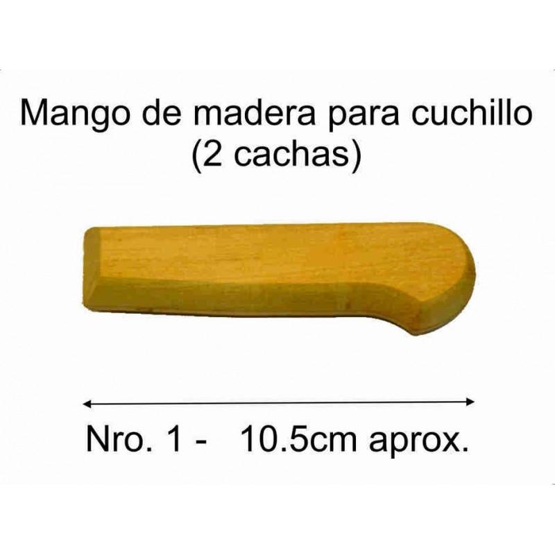 MANGO MADERA PARA CUCHILLO Nro 1 (10,5 cm)