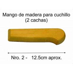 MANGO MADERA PARA CUCHILLO Nro 2 (12,5 cm)