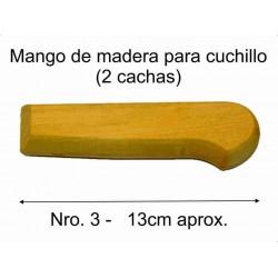 MANGO MADERA PARA CUCHILLO Nro 3 (13 cm)