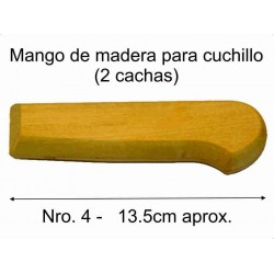 MANGO MADERA PARA CUCHILLO Nro 4 (13.5 cm)