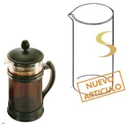 JARRA DE VIDRIO CAFETERA VOLTURNO GLASSE